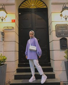 Modern Hijab Fashion, Street Hijab Fashion, Hijab Fashion Inspiration, Muslim Fashion, Fashion Outfits, Modest Outfits, Simple Outfits, Hijab Casual, Clothes