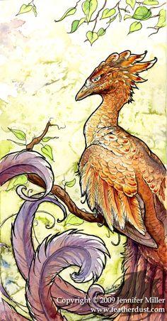 Amberfeather Phoenix by ~Nambroth on deviantART