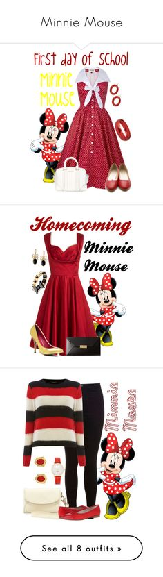 """""""Minnie Mouse"""" by alyssa-eatinger ❤ liked on Polyvore featuring Ollio, Givenchy, Jozica, Breil, Trashy Diva, STELLA McCARTNEY, Napier, Miss Selfridge, Diesel and Rowallan of Scotland"""