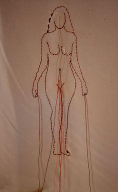 Miriam García Aguirre. Apuntes para (des)bordarse/Notes to (un)embroider oneself. 2017. (Proyecto Tejido recuperado, cuerpo propio/Weave  Recovered Project).