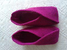 Kimono Slippers pattern by Joy Morgan