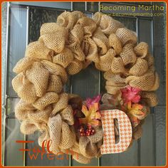 Burlap wreath instructions