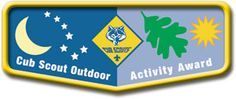 If your Cub Scouts attended day camp or resident camp over the summer, you might want to encourage them to work on their Cub Scout Outdoor Activity Award. This award encourages Cub Scouts to get outdoors and develop their skills.    Cub Scouts can earn this award during each of their program years (Tiger, Wolf, Bear, Webelos). The first year they earn it, they get a pocket flap which can be worn on the right pocket of the uniform. After that, they get a pin to display on the pocket flap.