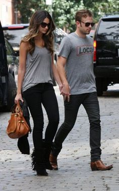 Lily & Caleb....love her style (those fringe boots)
