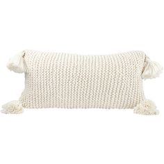 Hallmark Cream Chunky Knit Lumbar Throw Pillow ($38) ❤ liked on Polyvore featuring home, home decor, throw pillows, beige throw pillows, ivory throw pillows, lumbar throw pillow, cream throw pillows and off white throw pillows