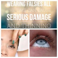 Wearing falsies can cause serious damage