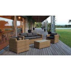 Evre Rattan Giardino Esterno Set di mobili Madrid Serra da giardino Lounge