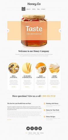 Moto CMS HTML #template // Regular price: $139 // Unique price: $8500 // #Food #Drink #MotoCMS #HTML #honey #health