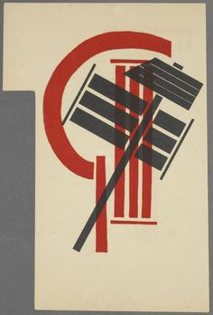 El LISSITZKY - Shapes/ colours look like they could be used in campaign poster - almost like a logo http://www.artexperiencenyc.com/