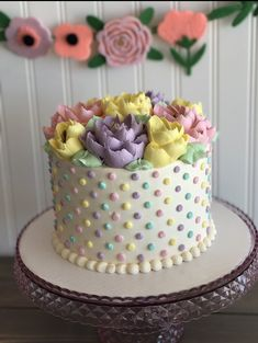 cake decorating 569001734169603819 - Classic Pastel dots Cake Source by javithaxgreen Creative Cake Decorating, Cake Decorating Techniques, Creative Cakes, Cookie Decorating, Decorating Ideas, Dot Cakes, Cupcake Cakes, Cake Fondant, Fancy Cakes