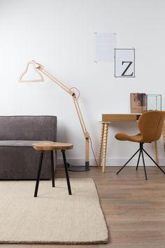 Vloerlamp Led It Be - Hout - Zuiver
