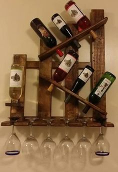 wall mounted wine glass rack - Google Search