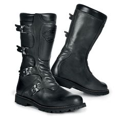 Extremely stylish Calfskin Leather Motorcycle Boots Calfskin Nappa Leather Water Repellent Leather lining Protection in the shins both sides Fastened using leat
