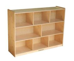 "S364808BIR Kids' Station 36"" 8 Sect Preschool Cabinet,, Fully Assembled from Factory Select"