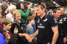 Team New Zealand skipper Dean Barker meets fans as he and his crew arrive at Shed 10 in Auckland. Long White Cloud, Welcome Home, Homeland, New Zealand, News, Sports, Hs Sports, Sport, Welcome Back Home