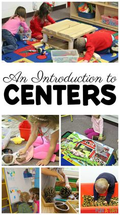 An introduction to centers in preschool and kindergarten #Preschool #Kindergarten #EarlyChildhoodEducation #FunADay #Centers #PreschoolCenters #PreschoolTeachers