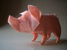 pink origami