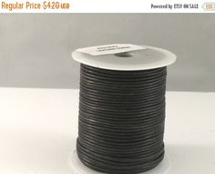 On Sale NOW 25%OFF 1.5mm BEST Quality European Leather Cord - Vintage Black - 2 Yards by LRPJewelryBox - jewelry supplies - jewelry supply - jewelry making
