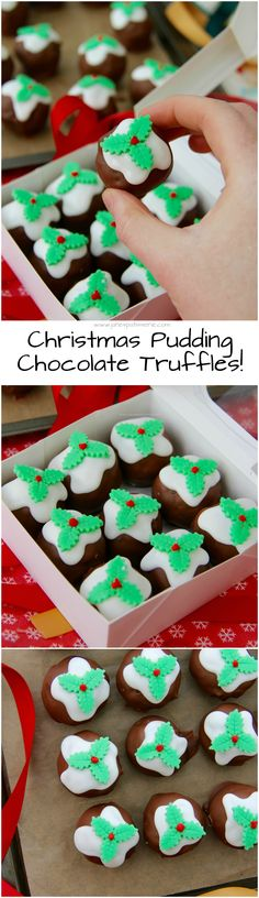 Christmas Pudding Chocolate Truffles!! Deliciously Chocolatey Truffles made in to mini Christmas Puddings! Cute little gifts for the Festive season!