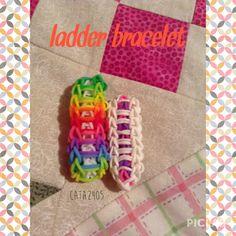 Rainbow loom bracelets - ladder bracelet #bracelet #pulsera #rainbowloom #ladder #colourful #cool #easy