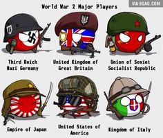 WWII players presented to you by country balls