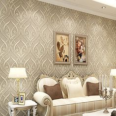 Contemporary+Wallpaper+Art+Deco+3D+European+Roll+Teng+Flower+Wallpaper+Wall+Covering+Non-woven+Fabric+Wall+Art+–+USD+$+49.99