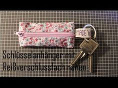 Sew bag / utensil yourself - idea, Sewing Hacks, Sewing Crafts, Sewing Projects, Diy Bags Tutorial, Cute Wallets, Diy Keychain, Sewing Material, Key Fobs, Sewing Clothes