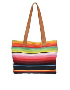 Multi Stripe Shopper
