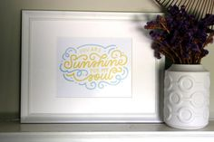 You Are Sunshine For My Soul Art Print by InkeryRoad on Etsy