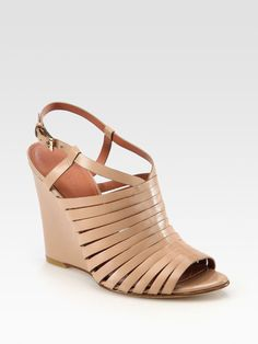 Gojee - Fabiana Leather Wedge Sandals by Sigerson Morrison