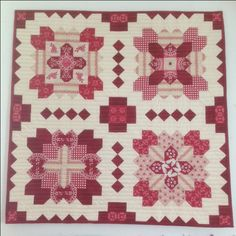 Patchwork of the Crosses / Lucy Boston Block Pattern featuring Raspberry Parlour by Sue Daley for Riley Blake Designs #suedaley #raspberryparlour #rileyblakedesigns