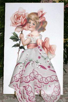 hankie crafts | Hankie Gift Cards - Little Girls