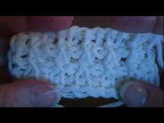 Tunisian/ Afghan Crossed Stitch - YouTube