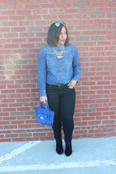 Patty's Kloset- Black & Blue #outfits #blogger #ootd #fashion