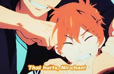 Free! ES ~~ Seijuro exerts his brotherly authority on Momotarou. Ouch