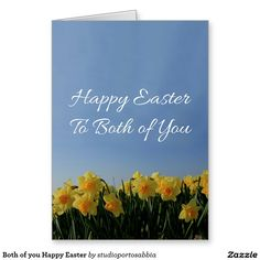 Both of you Happy Easter Greeting Card