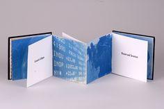 "Artist: Landa King  Title: The World's Biggest Problems 2009  Medium: cyanotype  Size: 5.25""x5.25""x0.5""  Location: Seguin, TX"
