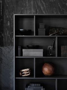 I februari kommer nya serien VALJE till IKEA varuhusen. Den består av färgkoordinerade bokhyllor och väggskåp som enkelt kombineras till dekorativa och personliga förvaringslösningar - med ett klick!