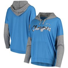 Achieve the comfiest game day look this season by picking up this Los Angeles Chargers Without Limits pullover hoodie from Touch. Whether you