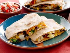 Guy's Kickin' Quesadillas are packed with enough veggies to make them a standalone meal. Wrap them in foil and you've got dinner on the go.