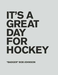 It's a great day for hockey! #hockey