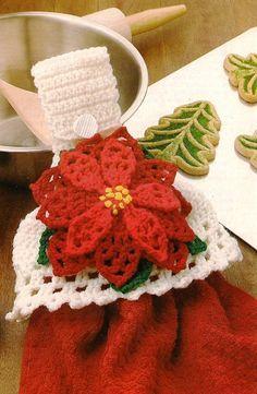 toalleros a crochet navideños - Buscar con Google