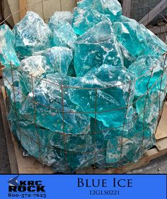 Blue Ice - Specialty Landscaping Materials - KRC Rock
