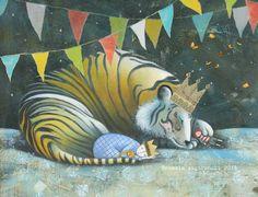 Sleep Like A Tiger | Mary Logue & illustrated by Pamela Zagarenski