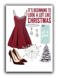 """""""Christmas"""" by averyr2005 ❤ liked on Polyvore featuring Glamorous, Sixtrees, BERRICLE, Coach House and Casetify"""