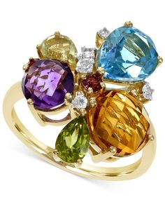 Effy Multi-Stone Mosaic Ring in 14k Gold (5 ct. t.w.)
