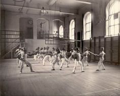 Fencing in a multi-purpose hall is a common sight