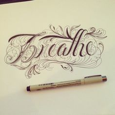 Hand Type Vol. 5 by Raul Alejandro , via Behance - Love the filigree of this font