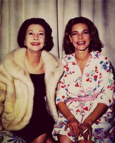 Vivien Leigh and Lauren Bacall (Vivian leigh starred in the classic film - gone with the wind - with clark gable)