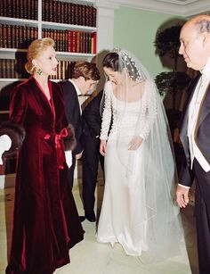 Carolina Herrera designed both her dress and her daughter Patricia's gown.